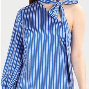 Banana Republic blue and white striped dress